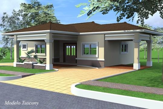 Casas de exclusivo modelo en david con una distribuci n for Casas alargadas distribucion